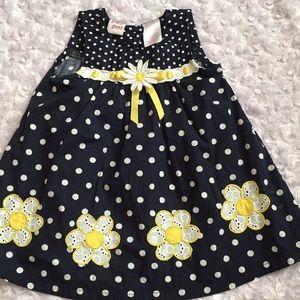 Baby Beri polka dot dress. Size 6-9 month